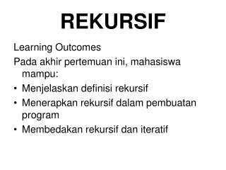 REKURSIF