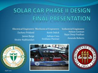 Solar Car Phase II Design  Final Presentation