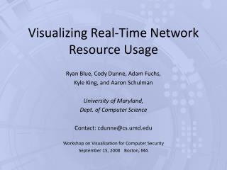 Visualizing Real-Time Network Resource Usage