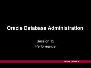 Oracle Database Administration