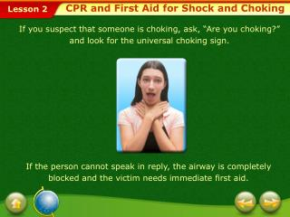 CPR and First Aid for Shock and Choking