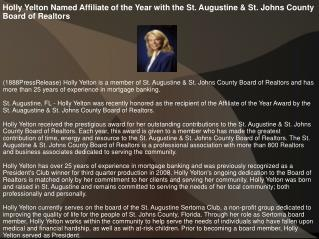 Holly Yelton Named Affiliate of the Year with the St. August