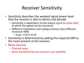 Receiver Sensitivity