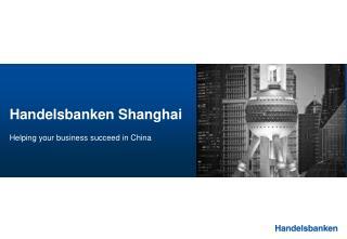 Handelsbanken Shanghai