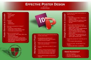 Effective Poster Design Grant Currie Information Technology St. Lawrence  University