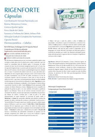 Com  Biotinax ®, Fórmula Patenteada com Biotina, Metionina e Cistina.  Contra a Queda Capilar