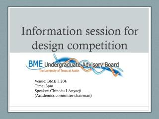Information session for design competition