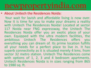 Unitech-117 Noida: Noida Residences Projects : Unitech noida