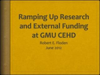 Ramping Up Research and External Funding at GMU CEHD