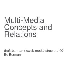 Multi-Media Concepts and Relations