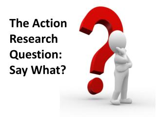 The Action Research Question:  Say What?
