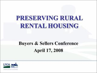 PRESERVING RURAL RENTAL HOUSING