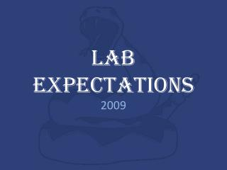 Lab Expectations