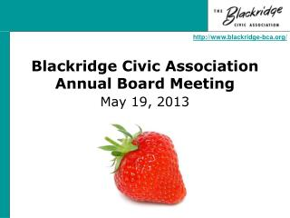 Blackridge Civic Association Annual Board Meeting