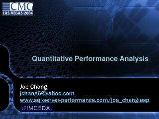 Quantitative Performance Analysis