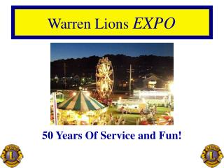 50 Years Of Service and Fun!