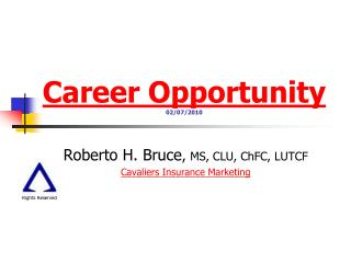 Career Opportunity 02/07/2010