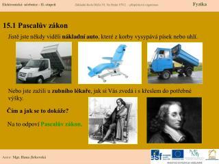 15.1 Pascalův zákon