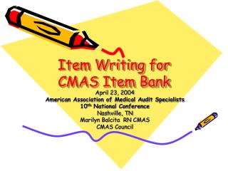 Item Writing for CMAS Item Bank