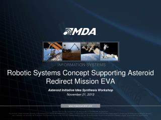 Robotic Systems Concept Supporting Asteroid Redirect Mission EVA