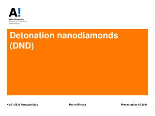 Detonation nanodiamonds  (DND)