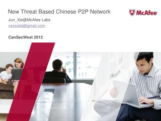New Threat Based Chinese P2P Network