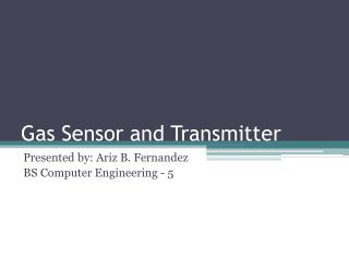 Gas Sensor and Transmitter