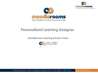 Personalized Learning Designer
