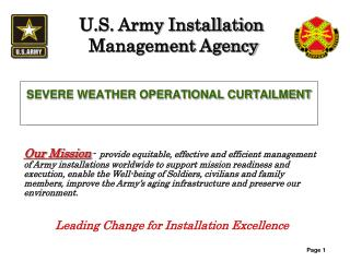SEVERE WEATHER OPERATIONAL CURTAILMENT