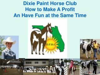Dixie Paint Horse Club How to Make A Profit An Have Fun at the Same Time