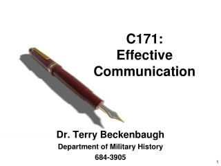 C171: Effective Communication