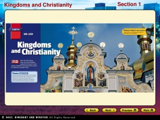 Preview Starting Points Map: Spread of Christianity Main Idea