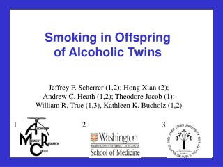 Smoking in Offspring  of Alcoholic Twins