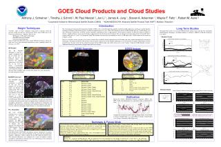 GOES Cloud Products and Cloud Studies