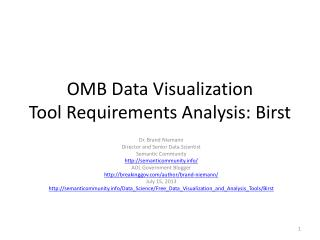 OMB Data Visualization Tool Requirements Analysis:  Birst