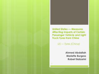 Ahmed Abdallah Mariette Burgess Robert Balzarini