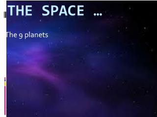 The space �