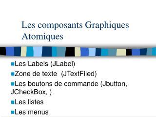 Les composants Graphiques Atomiques