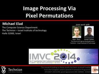 Image Processing Via                      Pixel Permutations