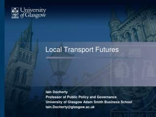 Local Transport Futures