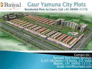 Affordable Plots in Gaur Yamuna City Plots Greater Noida
