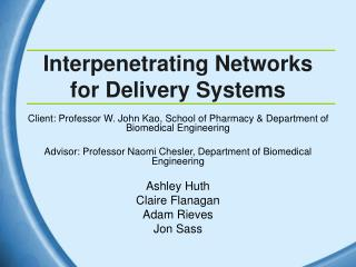 Interpenetrating Networks for Delivery Systems