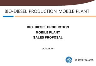 BIO-DIESEL PRODUCTION MOBILE PLANT