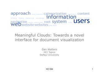 A text cloud as a method of visualizing a document?