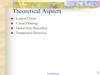 Theoretical Aspects