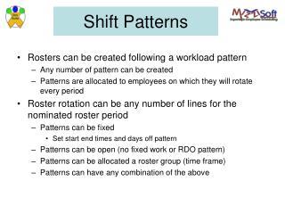 Shift Patterns