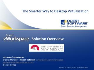 The Smarter Way to Desktop Virtualization