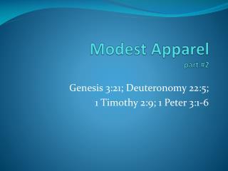 Modest Apparel part #2