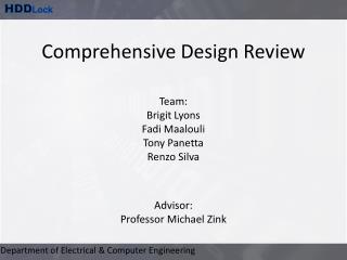 Comprehensive Design Review