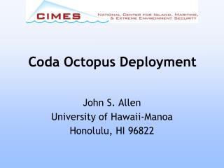 Coda Octopus Deployment